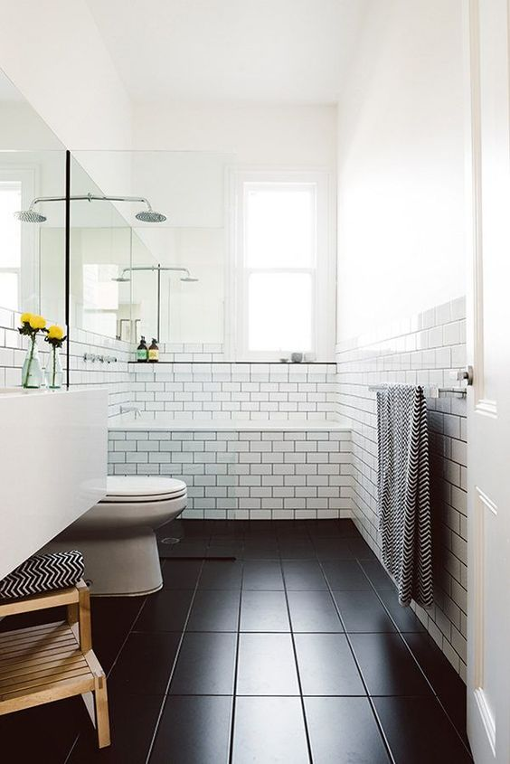 bathroom floor ideas black