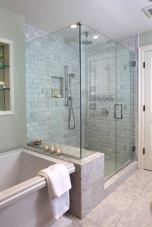 bathroom glass door ideas