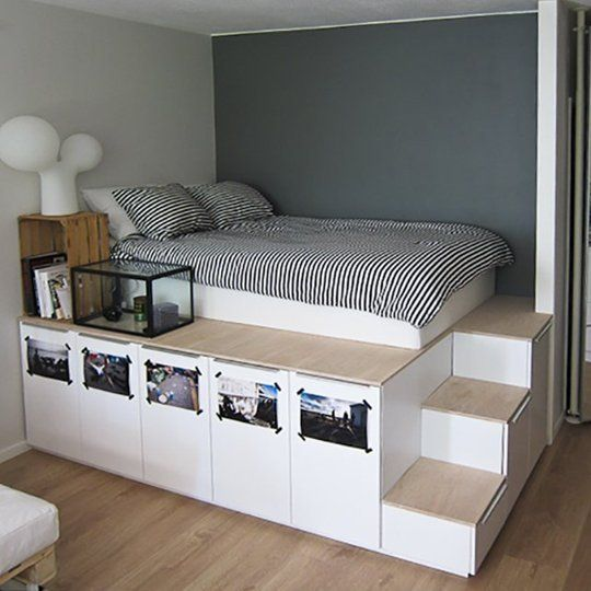 Corner And Higher Bed