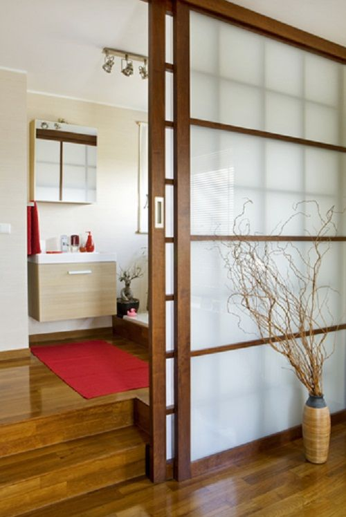 sliding door as room divider ideas