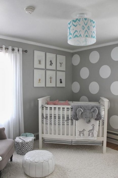 gray and white baby room ideas