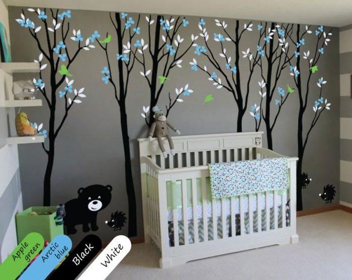 Forest-Themed Baby Boy Nursery