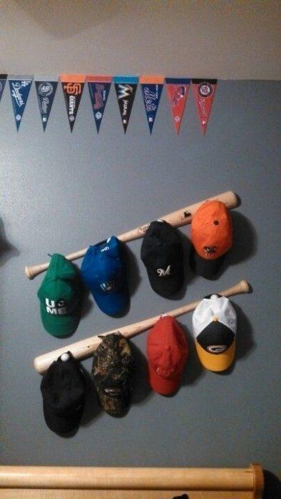 baseball hat racks