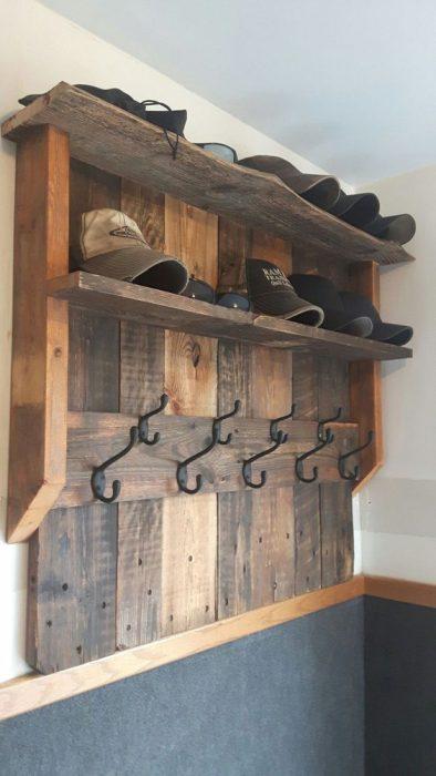wood hat racks