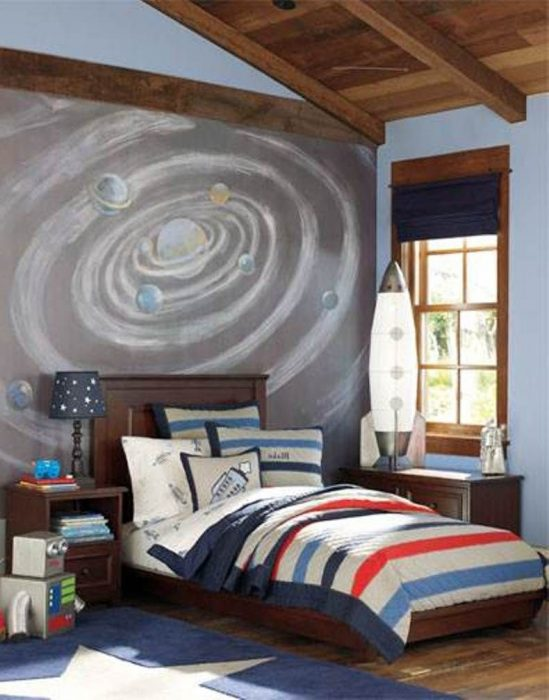 spaceship themed room
