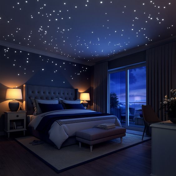 Space Themed Bedroom for adult