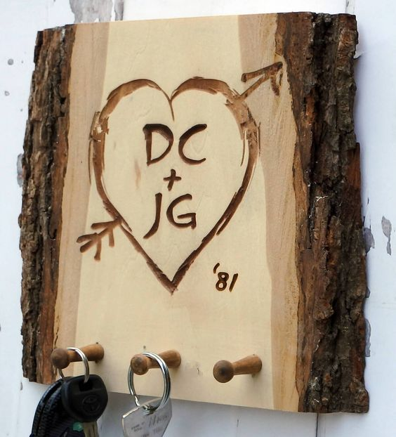 wood key holders