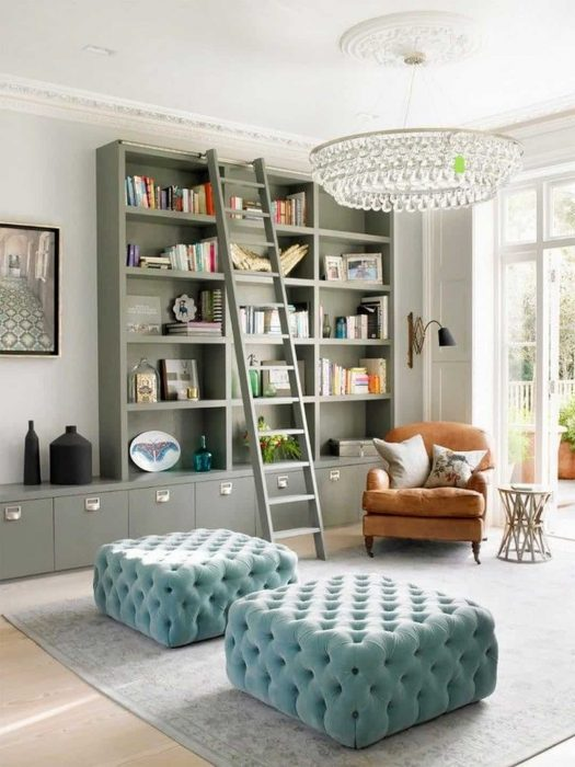 Living Room Library Design Ideas: 19+ Small Reading Room Ideas For Book Lovers